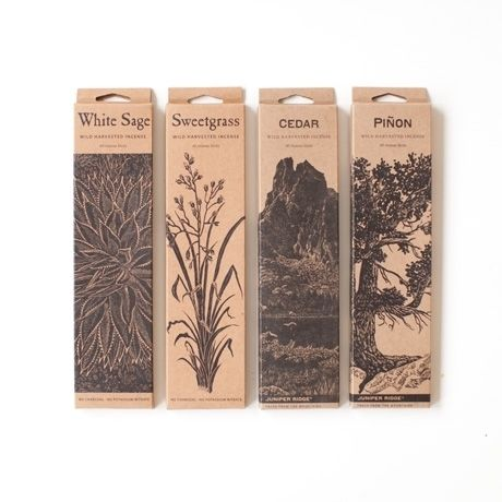 We love Juniper Ridge incense and currently burn white sage each evening. It can be a beautiful practice to clear the air of whatever you no longer need each day. :: Wild Harvested Incense Sticks by Juniper Ridge