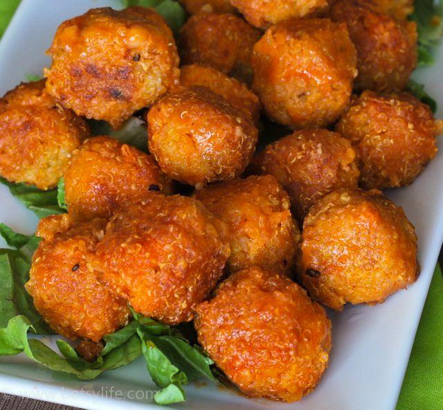 Football food: buffalo quinoa bites