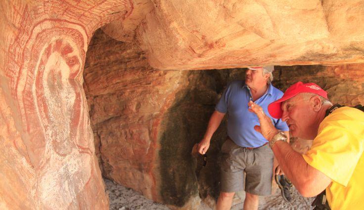 Wadjina Rock Art, the Kimberley. Truly spectacular indigenous art work in the remote Kimberley.  #rockart #art #indigenous #wandjina #thekimberley #northstarcruises #adventure