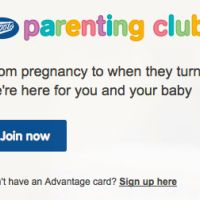 Join the Boots Parenting Club today and receive free gifts, tips, advice, magazine and much more such as 10 points for every £1 you spend.