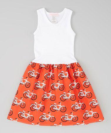 Red Retro Bikes Dress - Infant, Toddler & Girls #zulily #zulilyfinds