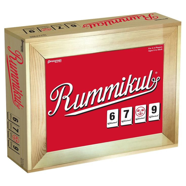 Pressman Toy Board Game Deluxe Large Number Rummikub in a Case Game