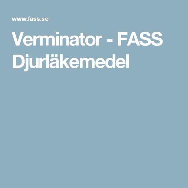 Verminator - FASS Djurläkemedel