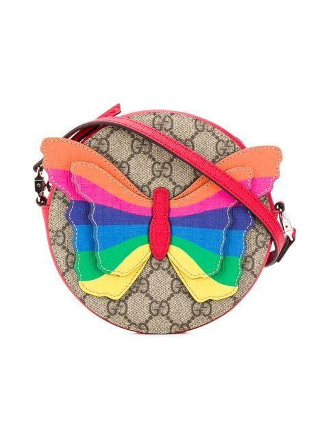 36406611226f5 Shop Gucci Kids Rainbow Butterfly bag