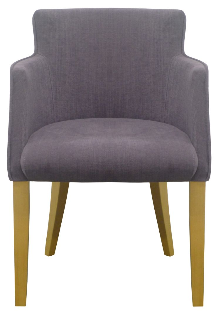 Torino - Elegant Compact Tub Chair in Romo's Linara Dewberry with Light Oak leg finish. Offered exclusively in a stunning palette over 200 colourways from Romo's essential Linara collection. This classic cotton Linen blend lends itself perfectly to create a timeless look to grace any dining room.