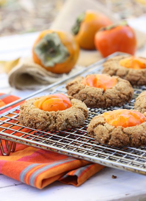 Persimmon Scones from The Spunky Coconut. Made with almond flour, coconut flour and coconut oil, these beautiful, vibrant scones are a healthier baked treat you can enjoy any time - for breakfast, brunch, afternoon tea or dessert. Vegan, gluten free and grain free.