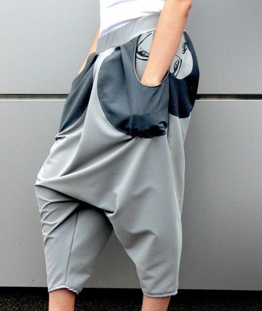 """""""wyTWARZanie"""" spodnie szarawary baggy"""