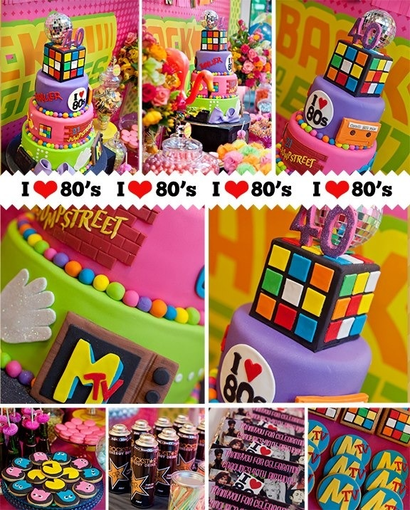 80 39 s cake lovely 80s prom wedding vow renewal party for 80s theme party decoration