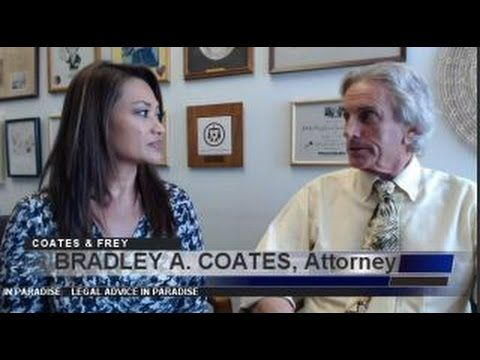 "BRADLEY A COATES Divorce Attorney Honolulu Episode #35 Legal Advice in Paradise - 844-292-1318 South Dakota legal aid -    The ""D"" word.  Divorce.  Sadly many couples end up severing their marriages which all started with the promise…""until death do us part"". I, myself, went through three divorces.  Not proud of it.  If I knew then, what I know now about how a marriage should be and how to make it last…if only.  Shoulda, coulda, woulda.  But I'll spare you and s"