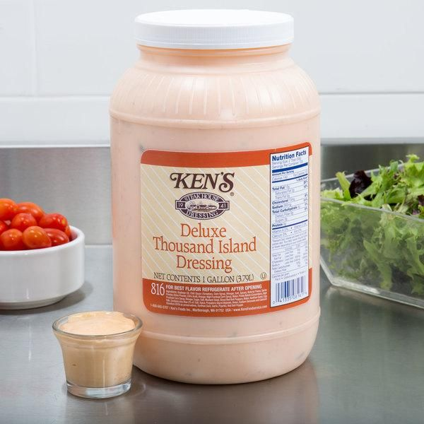 Ken S Foods 1 Gallon Deluxe Thousand Island Dressing Case Of 4 42 Free Shipping Or Same Day Nyc Pick Up Bes Thousand Island Dressing Food Thousand Islands