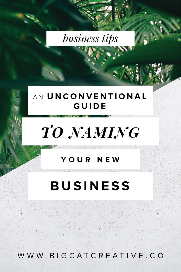 An Unconventional Guide to Naming Your New Business � Big Cat Creative   Naming a business   How to name a business   How to name a blog   Brand name generator   Business name generator   Small business name ideas   Brand name ideas   Steps to naming your