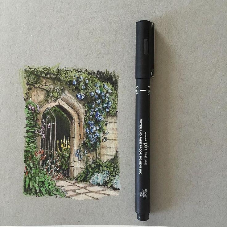 #art #drawing #pen #sketch #illustration #garden #secretgarden #fabercastell #westdesignproducts