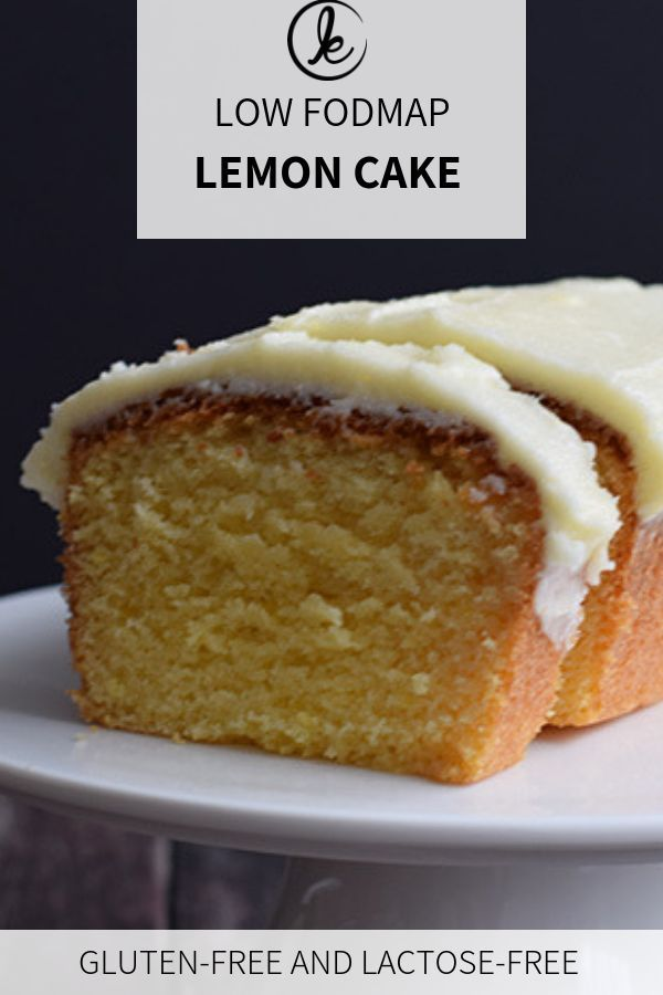 Low Fodmap Lemon Cake With Frosting Gluten Free Karlijn S Kitchen Recipe Fodmap Dessert Recipe Fodmap Baking Gluten Free Lemon Cake