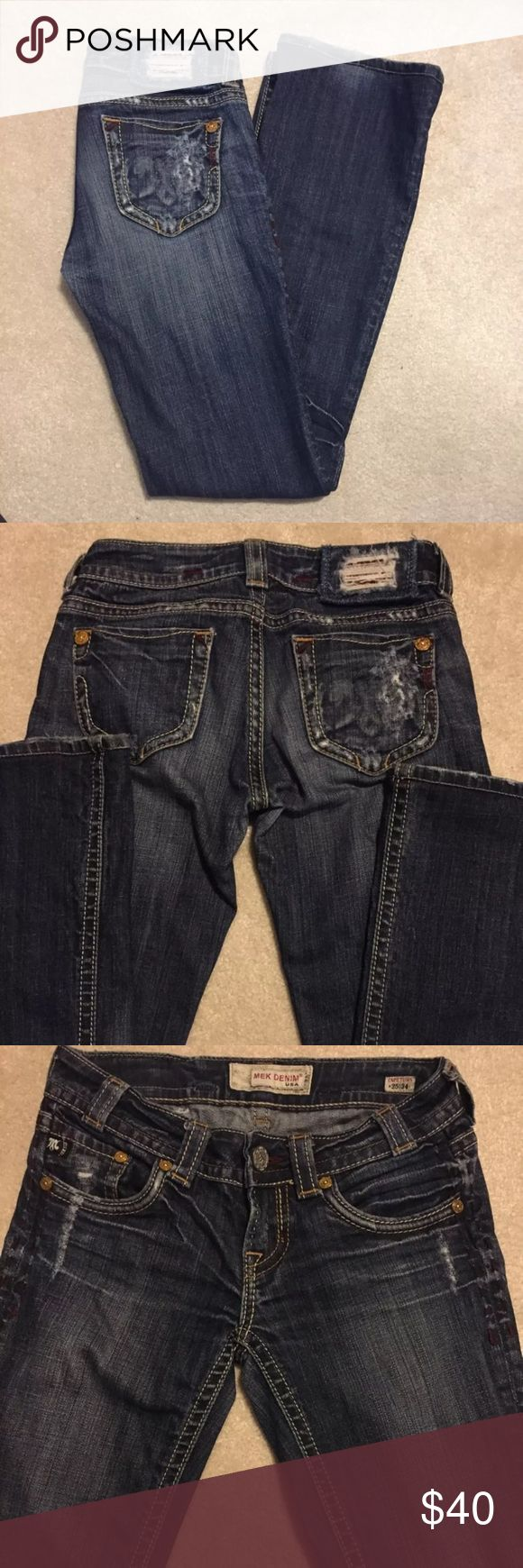 MEK jeans Great condition, boot cute size: 25X31 MEK Jeans Boot Cut