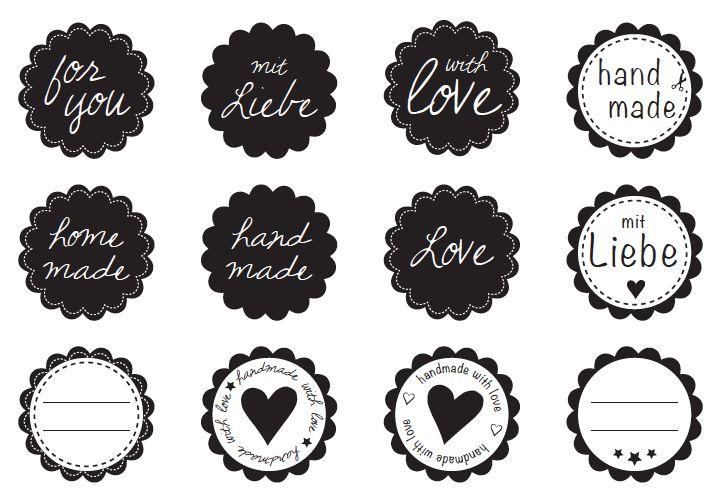 Free printable Etiketten handmade
