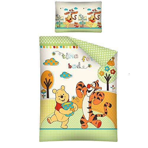 Winnie the pooh bedding set 135 x 100 cm - time for bed g…