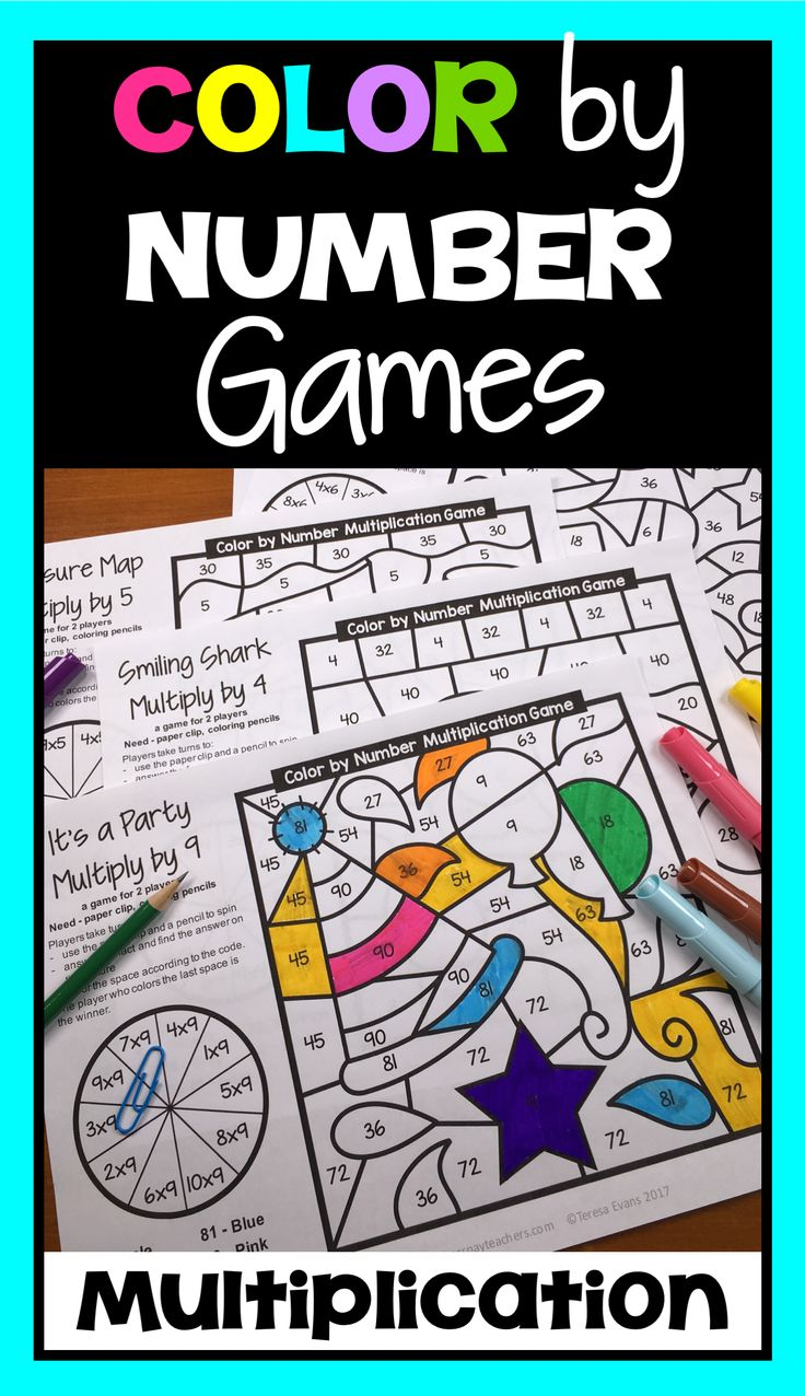 Game board colors - Color By Number Multiplication Games By Games 4 Learning 2 Player Games For Multiplication Facts