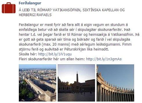 Kannski ekki smábær, en lítil borg í Rómaborg! Vatíkanið með Vatikansöfnunum og Sixtínsku kapellunni.