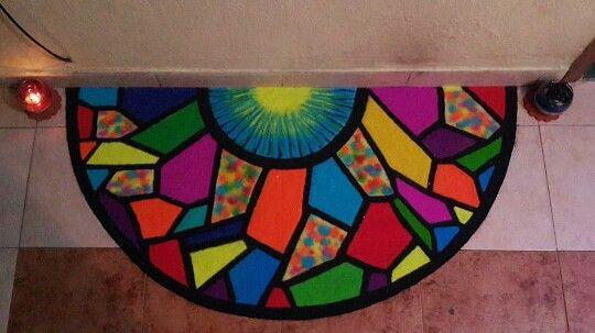 Mosaic rangoli... :)