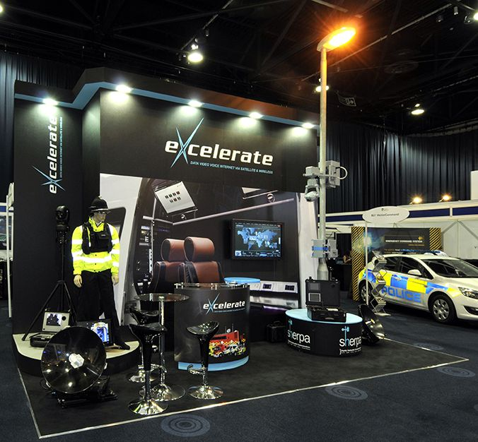 Excelerate exhibition stand at BAPCO, Manchester