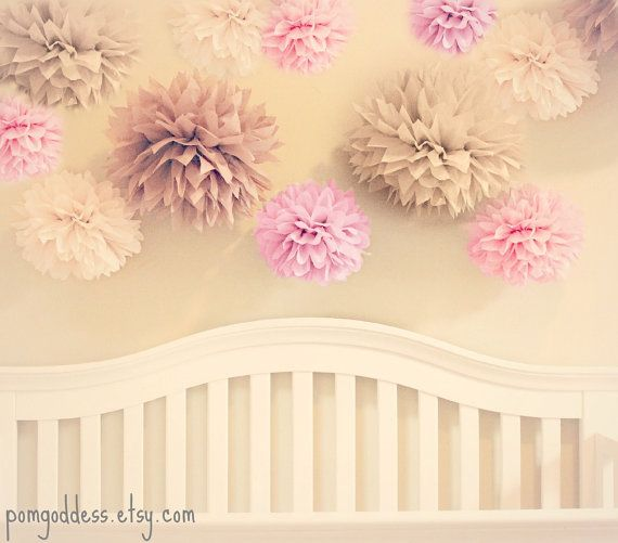 39 best images about shabby chic 1st birthday on pinterest for Pom pom room decor