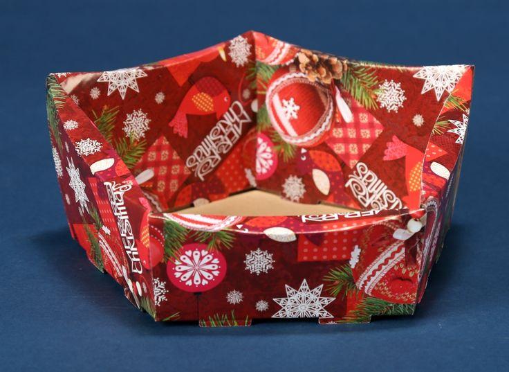 Kosze prezentowe z motywem świątecznym na Boże Narodzenie 11