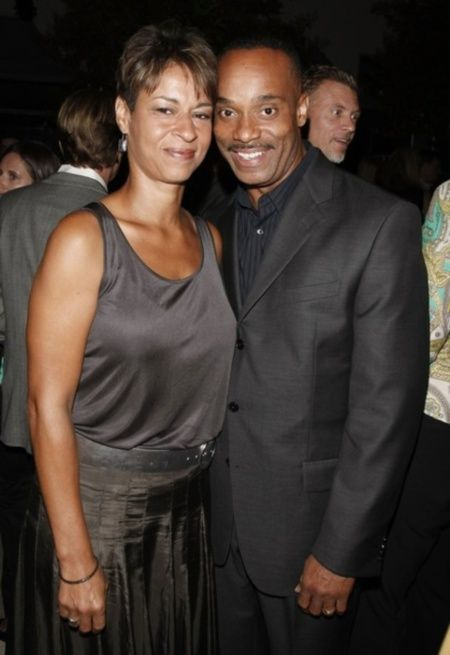 Rocky Carroll and wife Gabrielle Bullock, married since 1996.