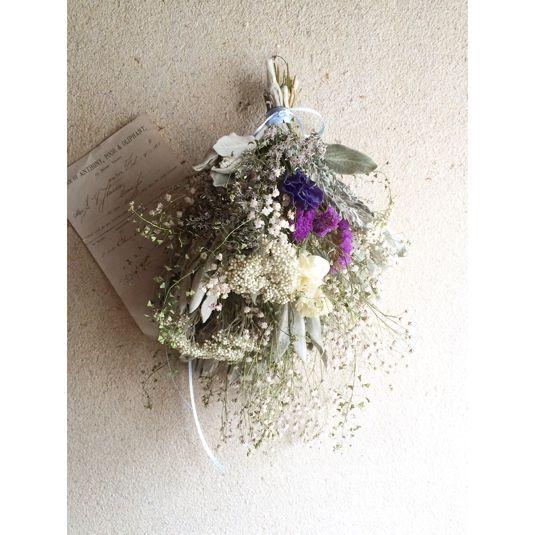 かすみ草とライスフラワーのスワッグ   ハンドメイド、手作り作品の通販 minne(ミンネ)