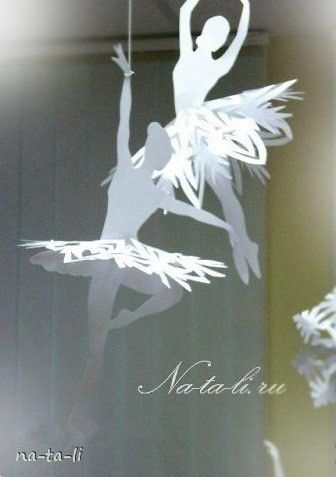 Creative Ideas - DIY Beautiful Snowflake Ballerinas from Templates 5