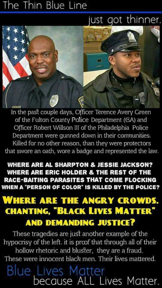 We leaning to the legt also care fir our men &women in blue, regardless of the color of their skin. When a person drives a speeding car directly at police in the street, is using adeadly weapon and actoin should be taen to stop that vehical from hitting ANYONE. No one shoukd be shooting at police or ANYONE. People need to be held accountable for their actions regardless of color. Deomocrats agree with you on this matter. What the hell is wrong with people today?