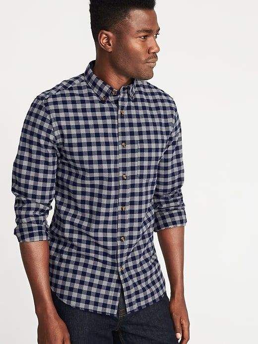 70f6bfaef3917 OLD NAVY ON Trend Slim-Fit Built-In Flex Everyday Oxford Shirt For Men