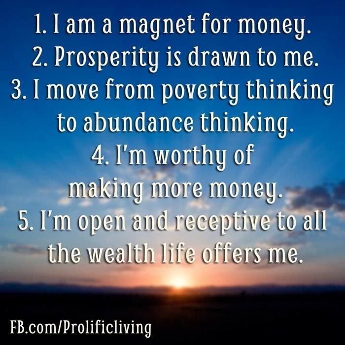 If you don't like money it won't like you either. Learn to affirm money and wealth into your life because you are worthy of it. - To see my top 100 affirmations visit me here: http://ift.tt/1nMBWwy