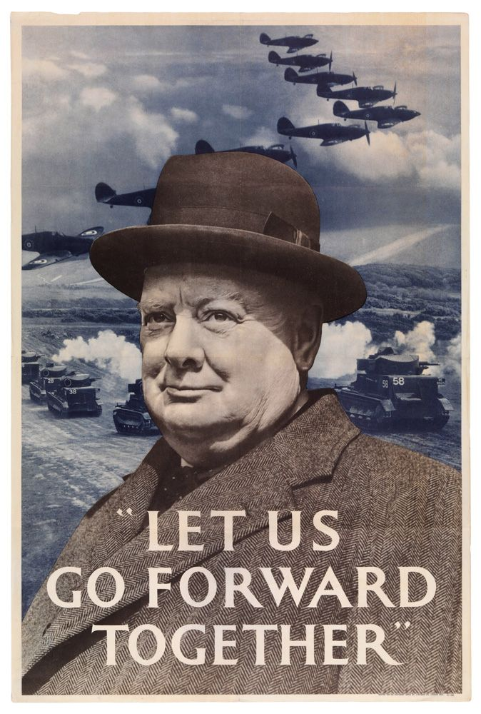 "Go To Ww Bing Comworld: WWII Poster: ""'Let Us Go Forward Together'"""