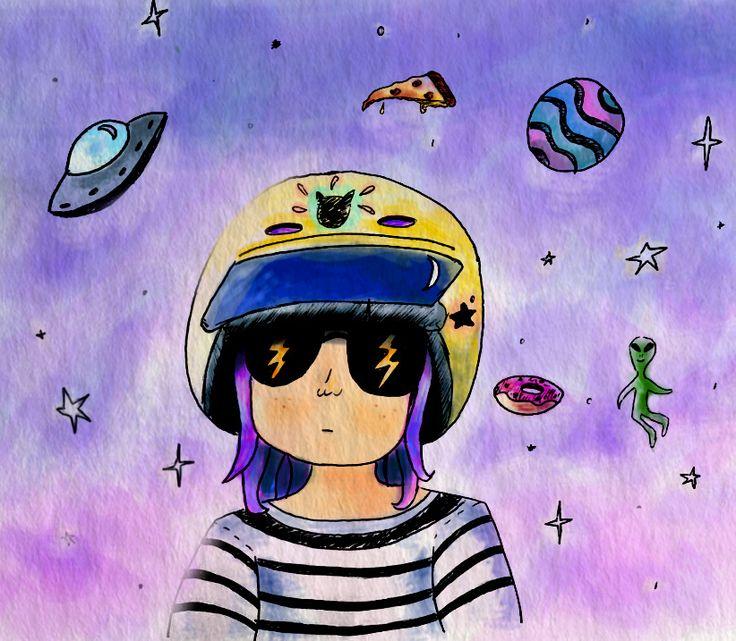 Ilustración Digital / Niña Universo Digital Illustration / Little Girl Universe