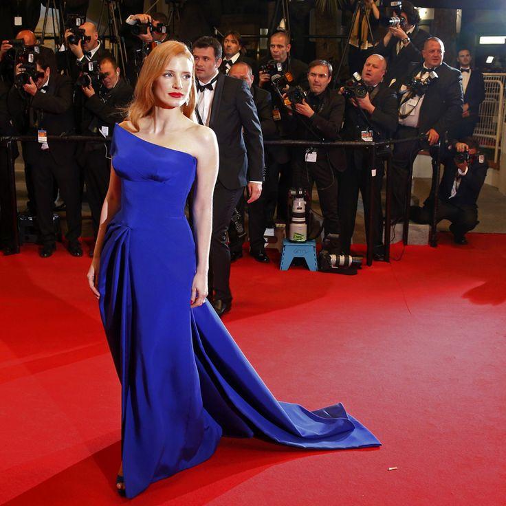 Vestido de Renda Cannes Film Festival Red Carpet Elegant Royal Blue Evening Dress Long Celebrity Prom Dresses Wholesale Custom
