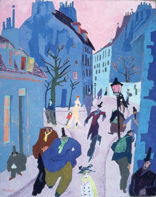 """Lyonel Feininger-When the Nazi Party came to power in 1933, the situation became unbearable for Feininger and his wife. The Nazi Party declared his work to be """"degenerate."""" They moved to America after his work was exhibited in the 'degenerate art' (Entartete Kunst) in 1936, but before the 1937 exhibition in Munich. He taught at Mills College before returning to New York."""