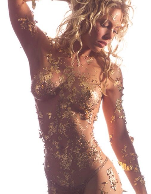 Gold Leaf Body Paint
