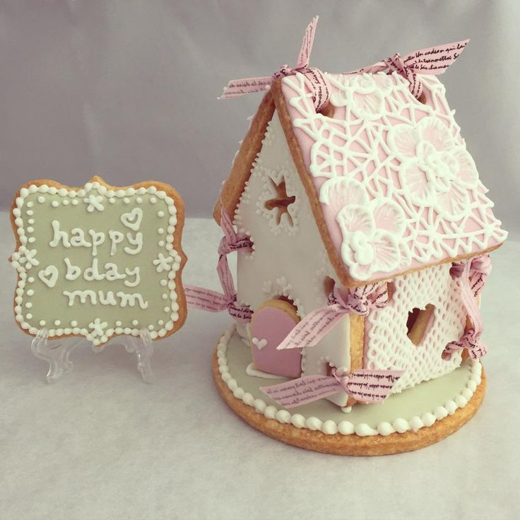 Gingerbread House with plaque cookie   Cookie Connection