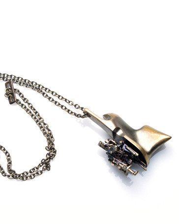 """Bjorn Weckstrom """"Starfighter"""" Flame Bronze Necklace"""