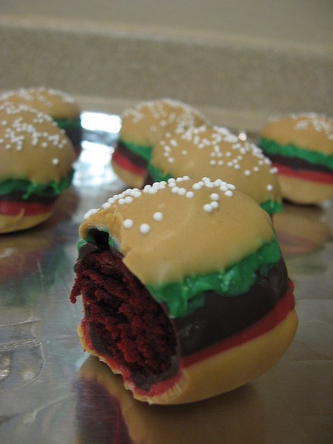 Crabby Patty Cake Pops