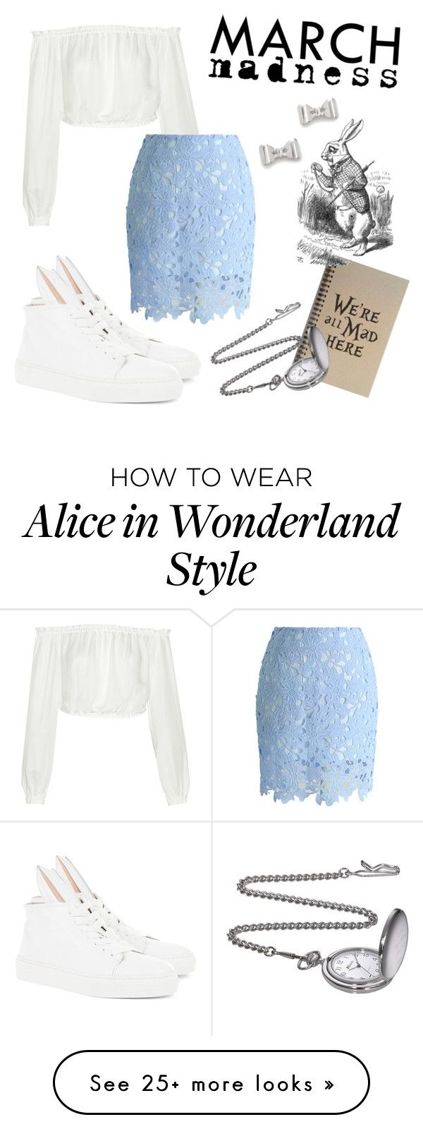 """""""March Madness with Alice in Wonderland"""" by victoriaxxkim on Polyvore featuring Minna Parikka, Marc by Marc Jacobs, Elizabeth and James and hightops"""