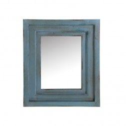Espejos Vintage madera decoración azul 38 cm, set de 2 en Nuryba.com tu tienda de muebles y decoracion online