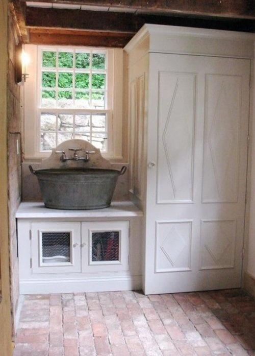 Rustic mudroom home pinterest mud rooms sinks and mud for Mudroom sink ideas