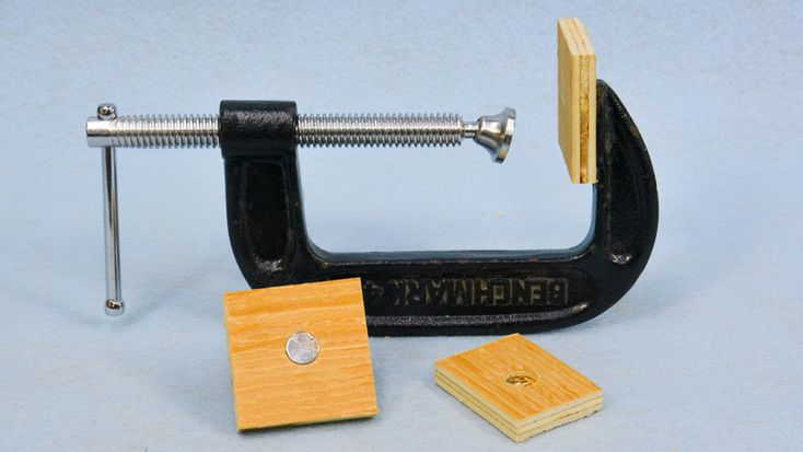 TIP: Use rare earth magnets to make replaceable wooden pads for C-Clamps! #woodworking #diy