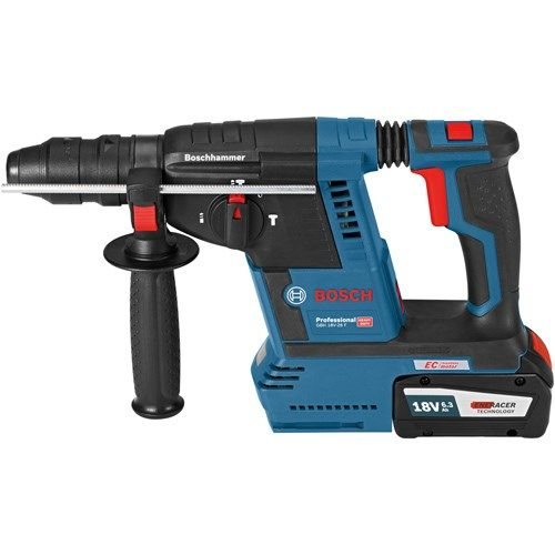 This is the *NEW* Bosch GBH 18 V-26 F 18 volt Brushless SDS-Plus Hammer Drill. It has incredible power and drilling capacity for an 18V SDS machine. You can use it to drill up to 26mm diameter holes in concrete. This SPECIAL edition is EXCLUSIVE to Kelvin Power Tools. It comes with a Quick Change chuck, L-Boxx carry case, the latest and fastest 18v charger and an upgrade to 2x 6.3Ah ENERACER batteries which are ideal for this kind of tool.