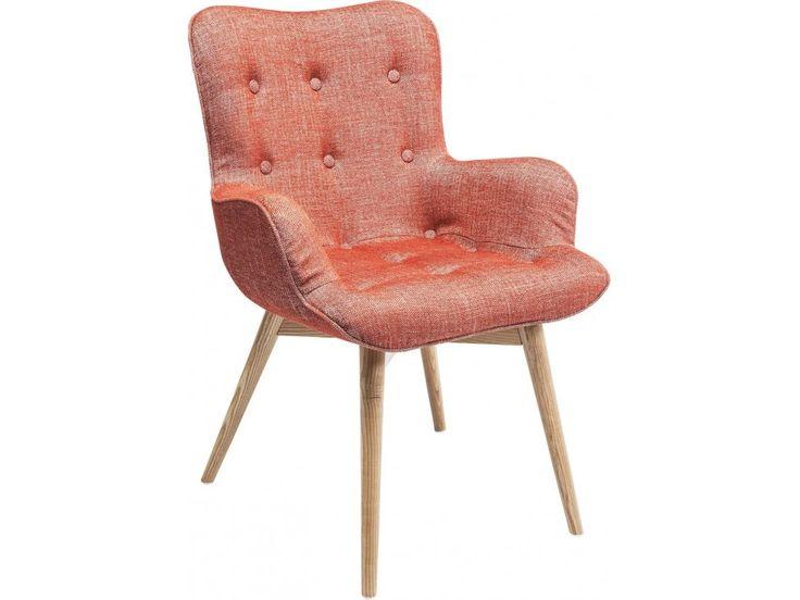 Krzesło Angels Wings Rhythm z Podłokietnikami czerwone — Krzesła Kare Design — sfmeble.pl