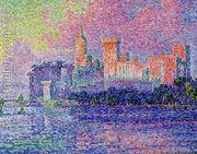 The Papal Palace Avignon  by Paul Signac