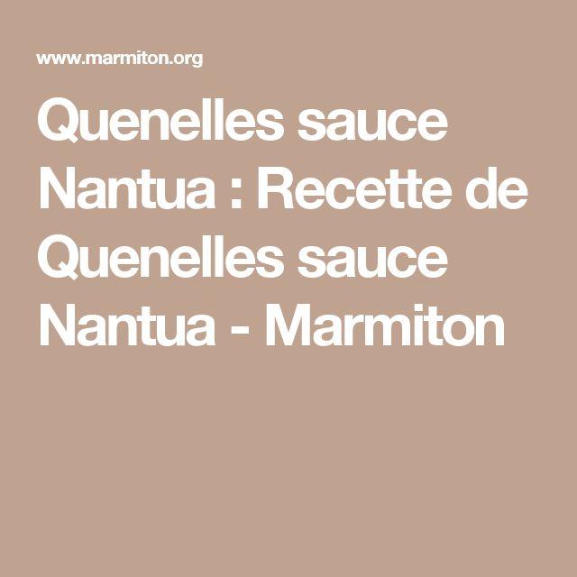 Quenelles sauce Nantua : Recette de Quenelles sauce Nantua - Marmiton
