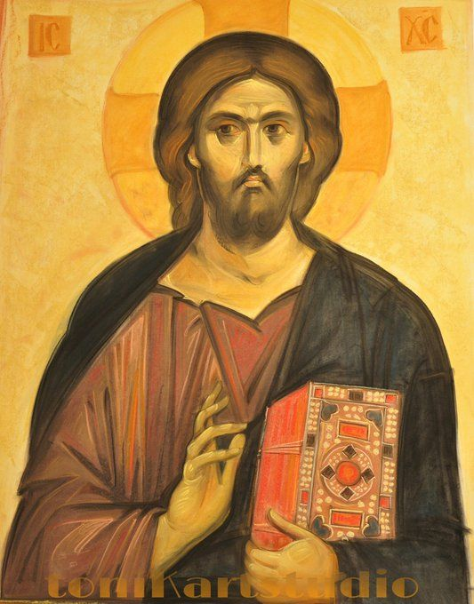Icon of Christ, drawing by Anda Tzara e-mail tonikart.studio@gmail.com
