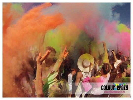Don't Miss the Colour Me Crazy Festival in Cape Town and Joburg.    The exciting Colour Me Crazy Run and Colour Festival is heading to South African shores!    Expect a day full of running, singing, dancing, and more at this exciting colour festival, scheduled to take place on 21 September 2013 in Joburg and 26 October 2013 in Cape Town.  - See more at: http://www.youtolife.co.za/events-2/colour-crazy-festival/#sthash.SplWMGSa.dpuf